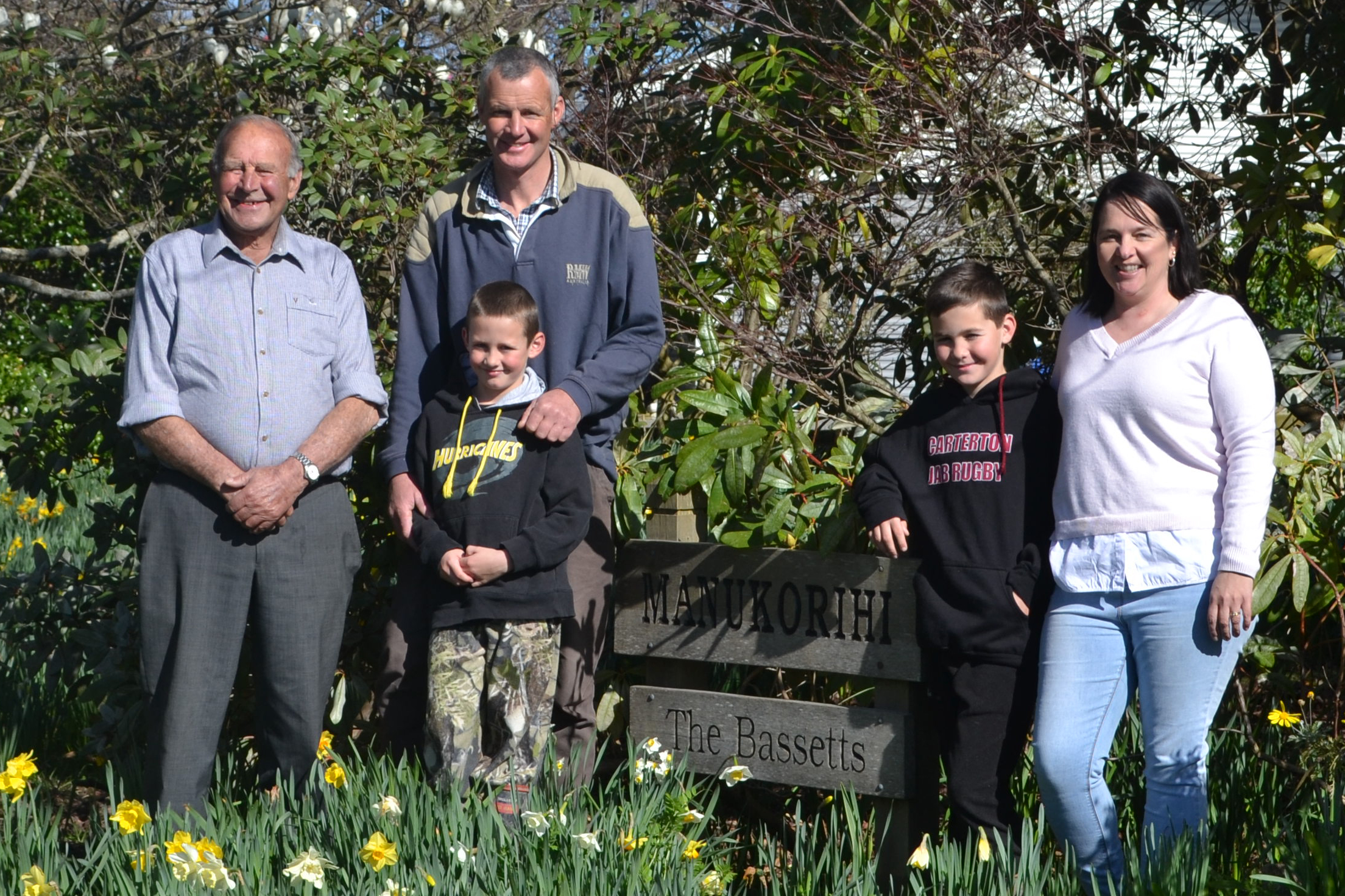 Three generations of the Bassett family. (L-R) Don, Rob. Crop.