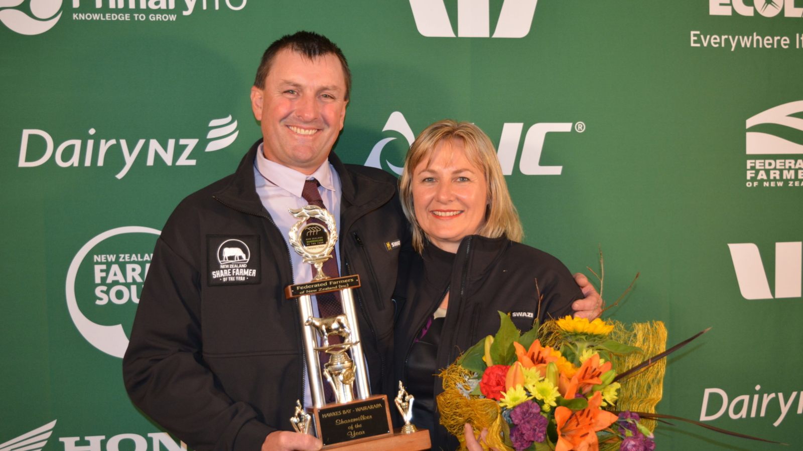 Rob and Shiralee Seerden were named the 2017 Hawke_s Bay Wairarapa Share Farmers of the Year.