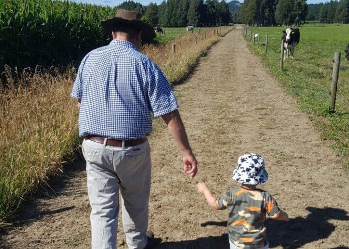 Kevin Alexander with grandson Alex.