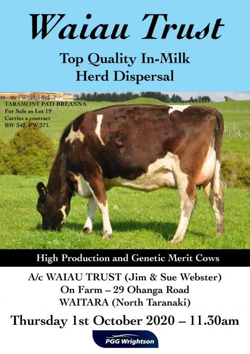 Waiau Trust In-Milk Catalogue 2020 COVER